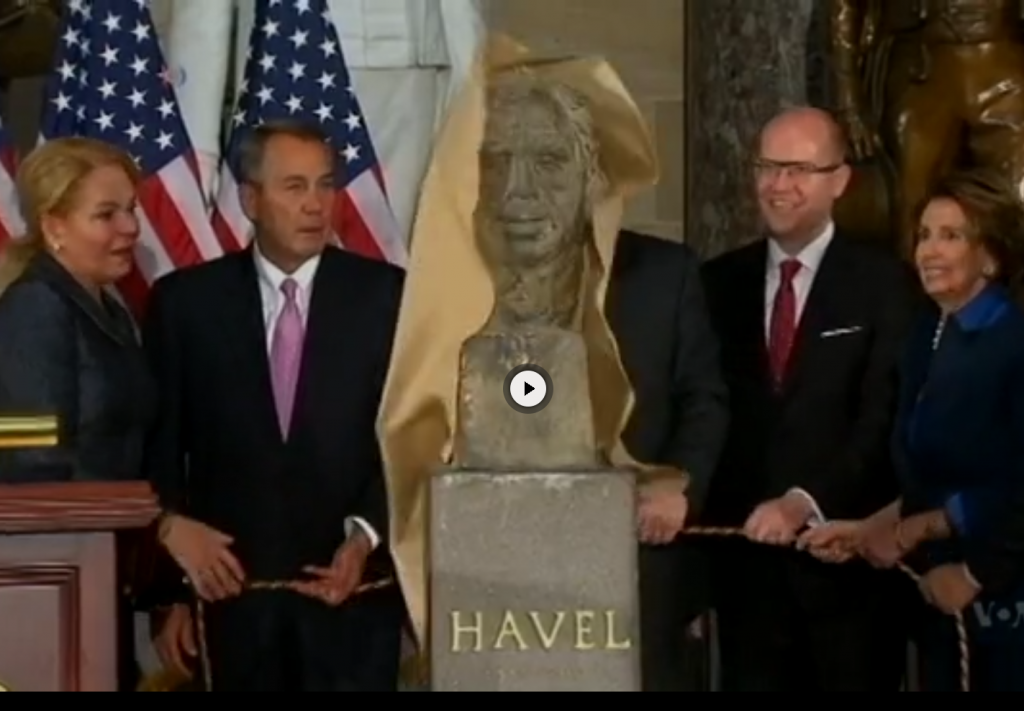 Havel's Bust Gets Place Among Greats in US Congress