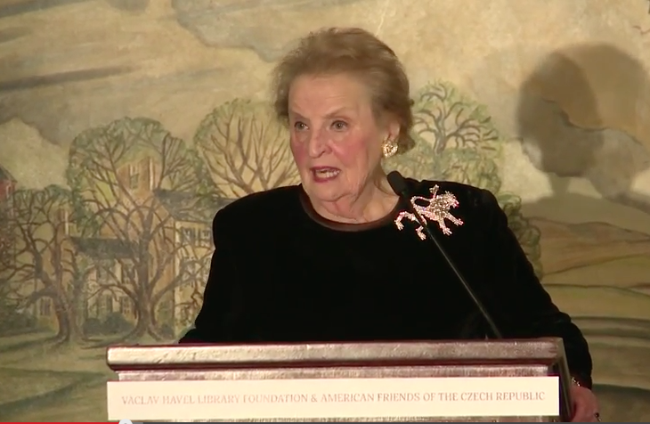 Madeleine K. Albright: Global Challenges of Today and Commemorating Václav Havel