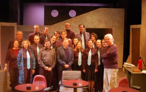 Havel with the cast of the Memo. Photo by Tanya Khordoc.