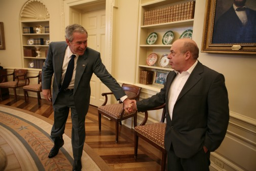 President-Bush-meets-with-Natan-Sharansky