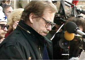Vaclav Havel in 1989 Czech Television