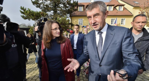 Prime Minister Andrej Babis campaigning in 2017
