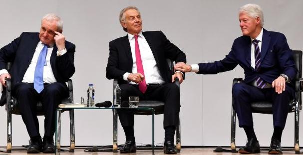 Bertie Ahern, Tony Blair and Bill Clinton