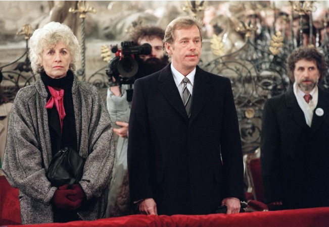 Vaclav Havel with his wife Olga