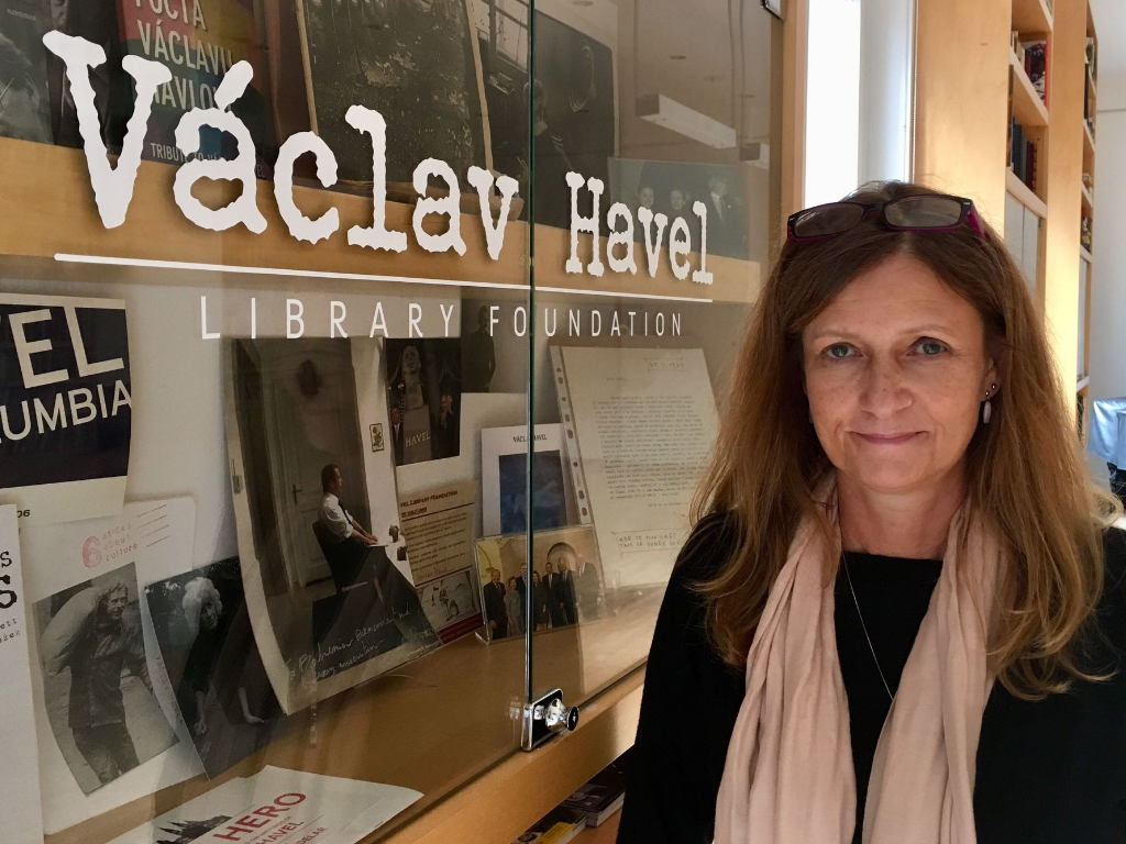 Václav Havel Library Foundation head Pavla Niklová: US students are still excited something like Havel's story is possible