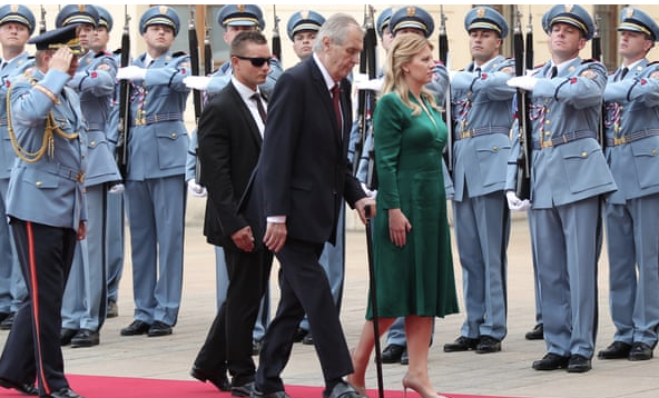 Slovakia's new president buoys Czech liberals on first foreign visit