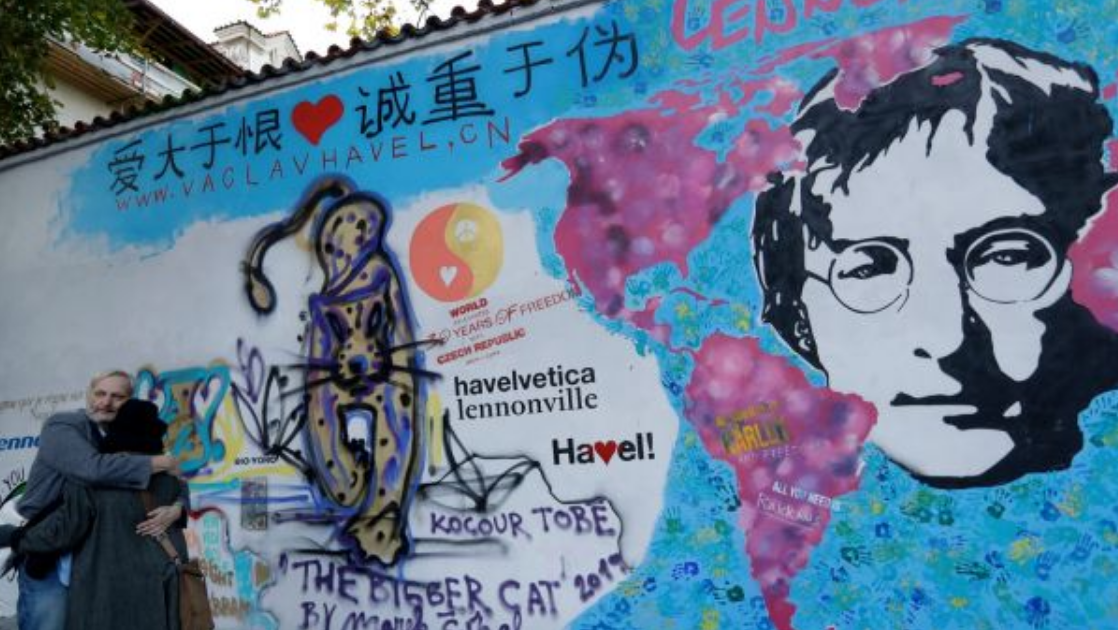 Lennon Wall' in Prague