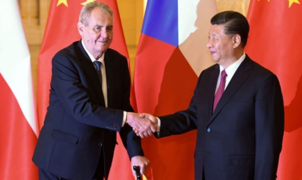 Milos Zeman and China's president Xi Jinping