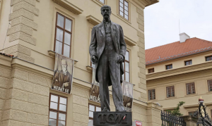 Statue of Thomas Garrigue Masaryk, first president of Czechoslovakia. Photograph: Ian Bottle/Alamy Stock Photo